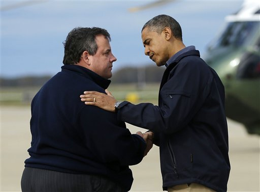 Christie and Obama Tour4