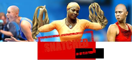 serena snatches Sharipova's wig