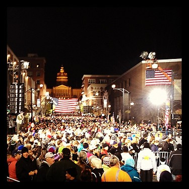 Des Moines is fired up to #FinishWhereWeStarted this journey