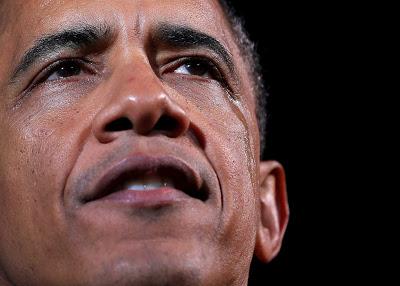 Obama crying in Iowa 051112