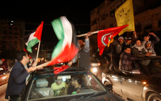 Palestinians celebrate 14