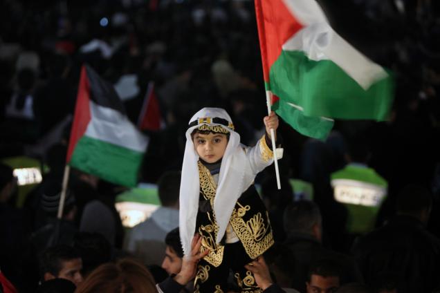 Palestinians celebrate 3