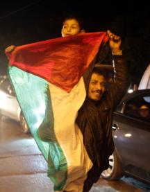 Palestinians celebrate 5