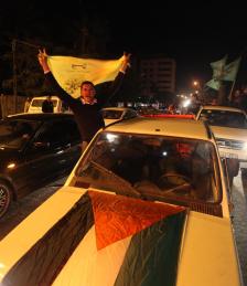Palestinians celebrate 6