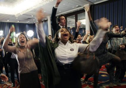 Supporters celebrate Obama10