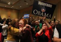 Supporters celebrate Obama12