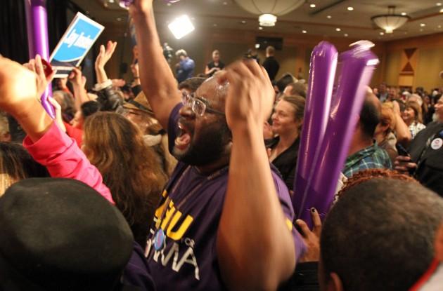 Supporters celebrate Obama13
