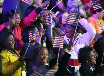 Supporters celebrate Obama17