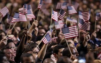 Supporters celebrate Obama18