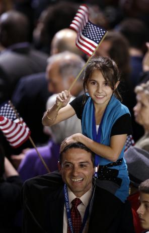 Supporters celebrate Obama19