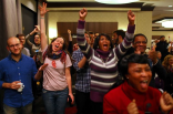 Supporters celebrate Obama21