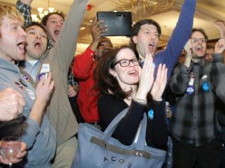Supporters celebrate Obama3