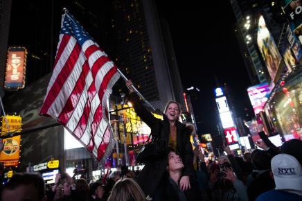 Supporters celebrate Obama5