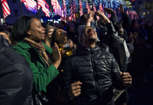 Supporters celebrate Obama7