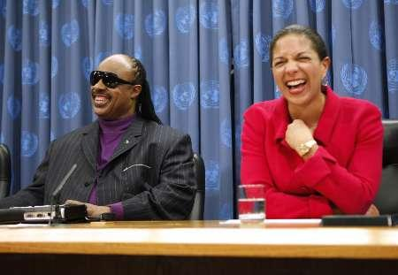 Susan Rice & Stevie Wonder