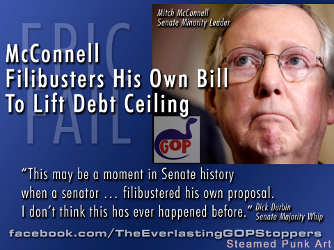 McConnell filibusters his own bill