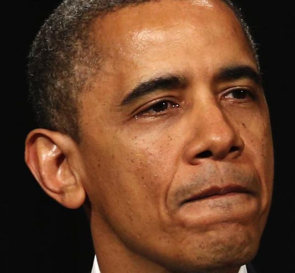 President Obama speaking in Newtown