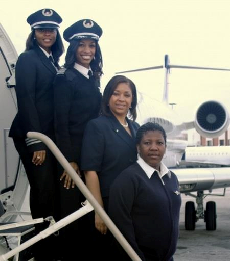 All Female African American aviation crew