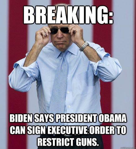 Biden says PBO can sign executive order to restrict guns.