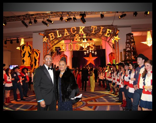 "Cecil and Marsha Webster Attending the ""Texas Black Tie and Boots Inaugural Ball"""
