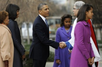 First Family on their way to Church1
