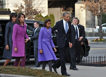 First Family on their way to Church