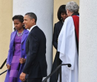 First family on their way to Church9