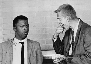 Freedom Riders-John Lewis and Jim Zwerg after one beating during the 1961 Freedom Rides