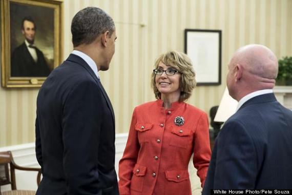 Gabrielle Giffords At The Oval Office