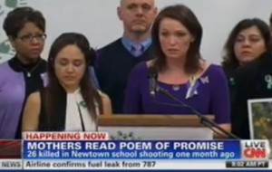 Mothers read poem of promise