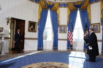 Potus takes the oath of office 14