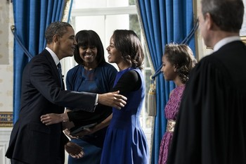 Potus takes the oath of office 8