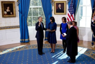 Potus takes the oath of office 9