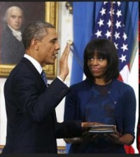 President Obama takes the Oath of Office.1