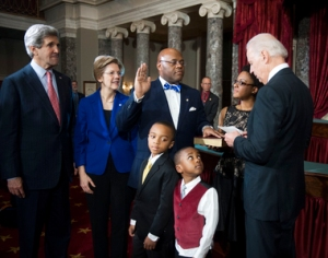 John Kerry, Sen. Elizabeth Warren, William Cowen, Grant Cowan, Miles Cowan, Stacy Cowan