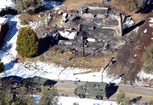 burned remains of the cabin where Dorner allegedly hid.