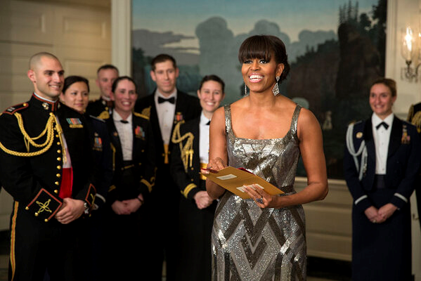 First Lady Michelle Obama announcing Oscar2013 best picture winner