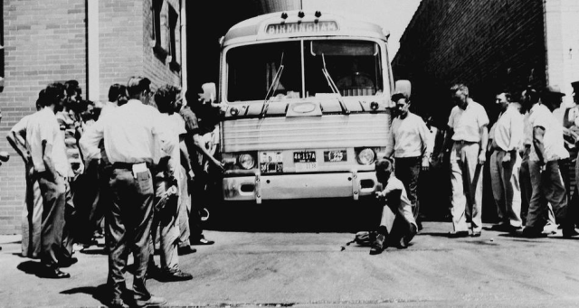 Freedom Riders pulled into the Anniston station