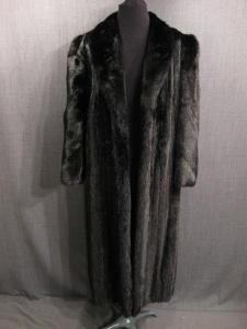 Fur Coat Women's, black mink, Size 12-14