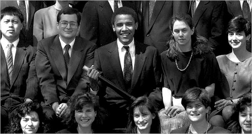 In 1990, a 28-year-old named Barack Obama got his first brush with nationwide notoriety when he was elected president of the Harvard Law Review