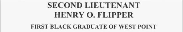 lieutenant henry o. flipper.