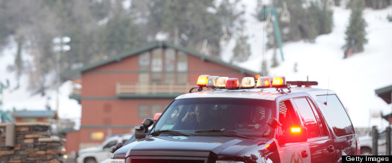 Police block a road in an area near Big Bear ski area, beileved to be Christopher Dorner's hiding spot.