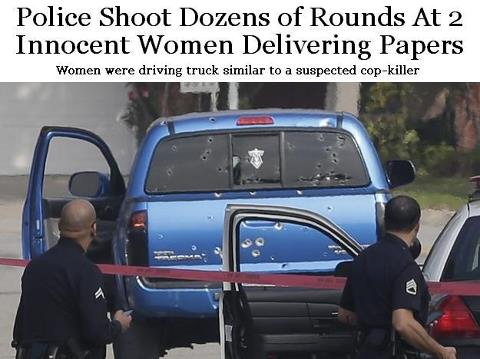 Police shoots dozens of rounds at women delivering papers