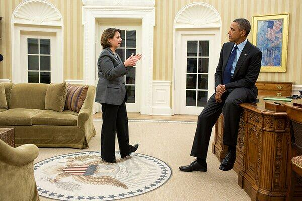 Counterterrorism Official Lisa Monaco updated Pres. Obama about the capture of the second suspect