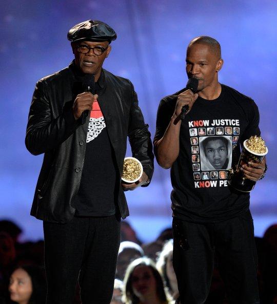 Jamie Foxx and Trayvon Martin tee1