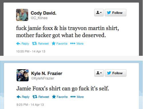 Jamie Foxx TM racist tweets