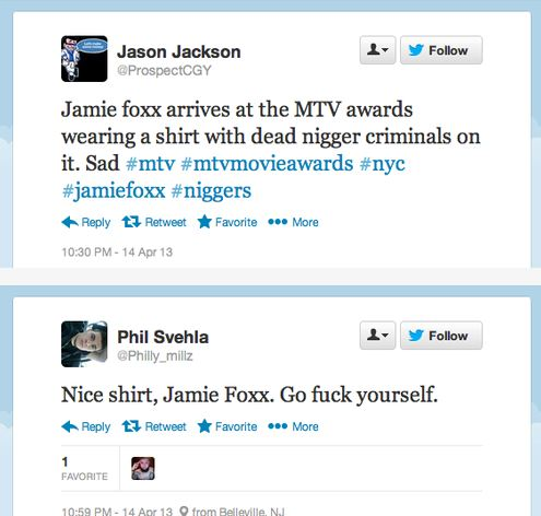 Jamie Foxx TM racist tweets2