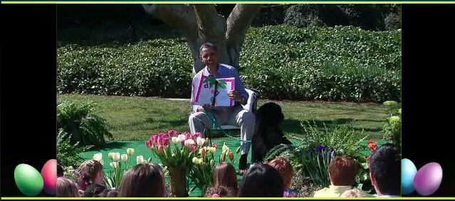 Potus reading at the Easter Egg Roll