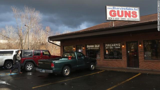 The Riverview Gun Sales shop in East Windsor, Connecticut, is still open but no longer sells guns.