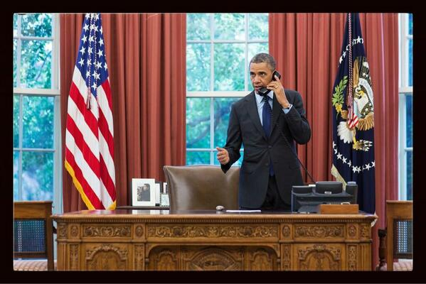 POTUS on phone with Oklahoma Gov Mary Fallin